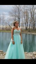 Turquoise ball gown prom dress. Size medium.