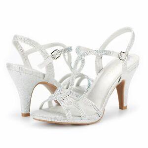 Women's Ladies Stilettos Heel Sandals Ankle Strap Platform Dress Shoes Size 5-11
