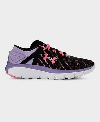 New Grade School SpeedForm® Fortis Girls' Running Shoes-1258750-black//Lilac//pink