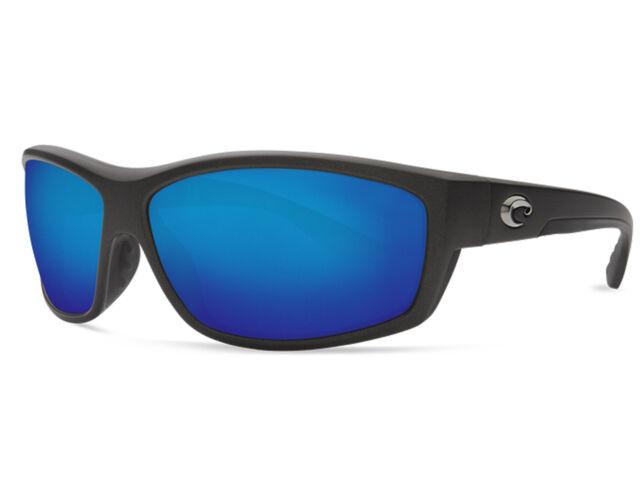 NEW Costa Del Mar Saltbreak Matte Steel Gray //Green BK188 OGMGLP 580G Sunglasses