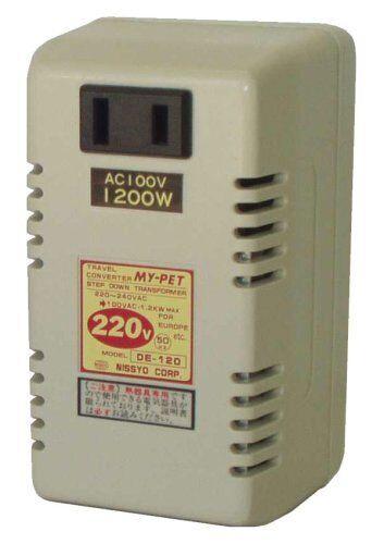Travel converter DE-120 Voltage Step Down 220-240V to 100V 1200W w//Tracking# JP