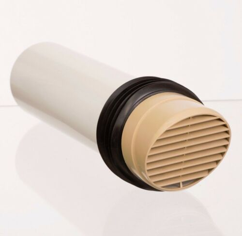 extractor fan or tumble dryer buff high rise wall air vent 100mm tube Beige