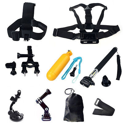 Head Chest Mount Floating Monopod Pole Accessories For GoPro Hero 1 2 3 4 Camera