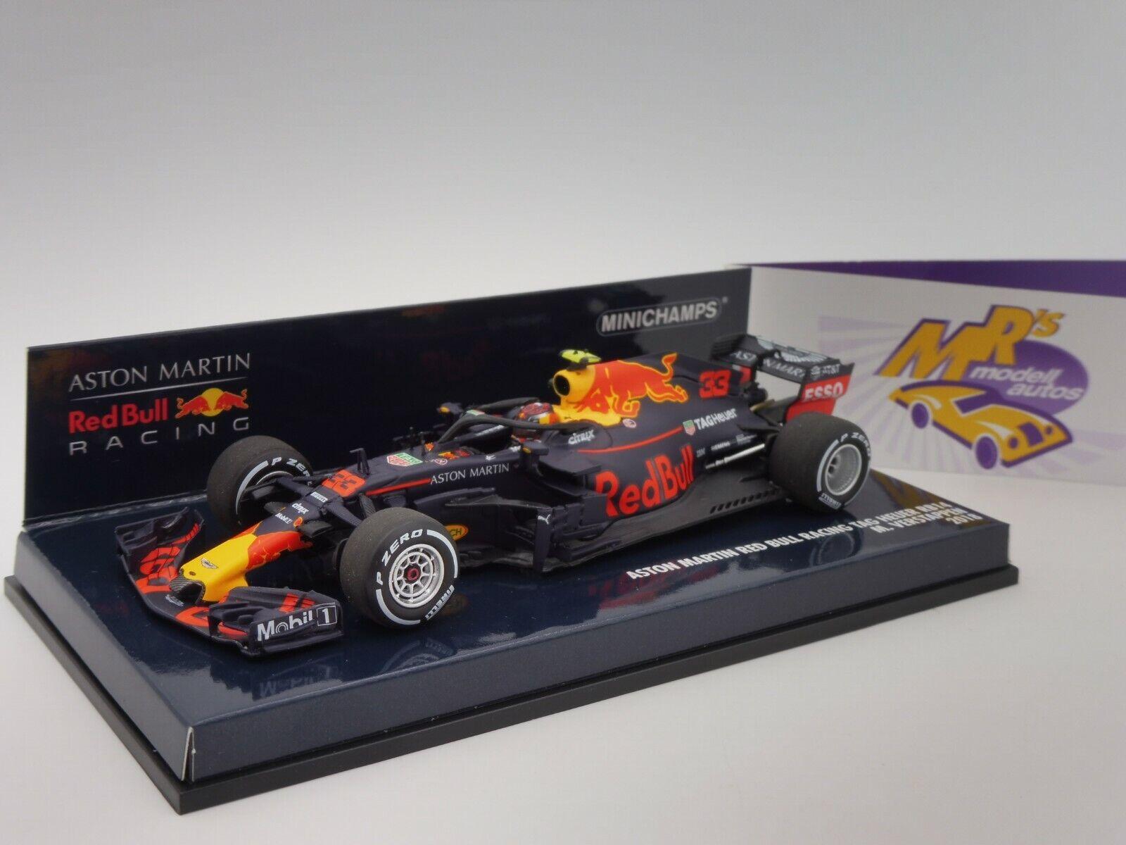 MINICHAMPS 410180033   ASTON MARTIN rouge Bull rb14 No. 33 f1 2018 Verstappen 1 43