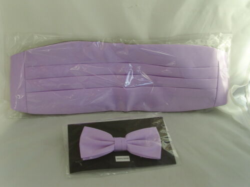LILAC Cummerbund and Bow Tie Set/<*Free*/>P/&P 2UK/>/>1st Class-in 50 Colours in SHOP