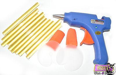 Small Glue Gun + 12 Keratin Hair Glue Sticks + 2 Finger Protector + 2Heat Shield