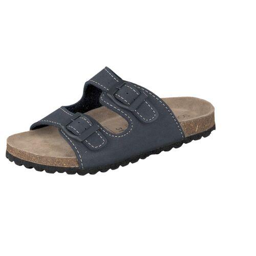 Supersoft Mädchen Sandalen Hausschuhe Pantoletten mit Riemen blau Schuhe