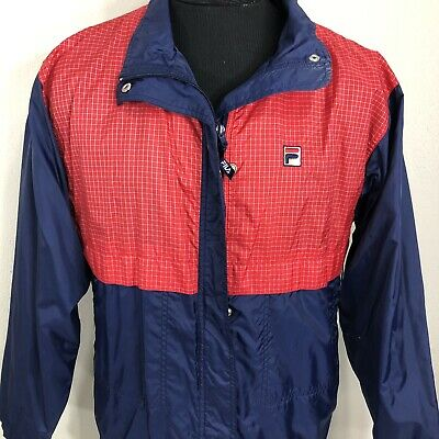 VTG Fila Windbreaker Jacket Colorblock Coat 90s Bjorn Borg Grant Hill Large | eBay