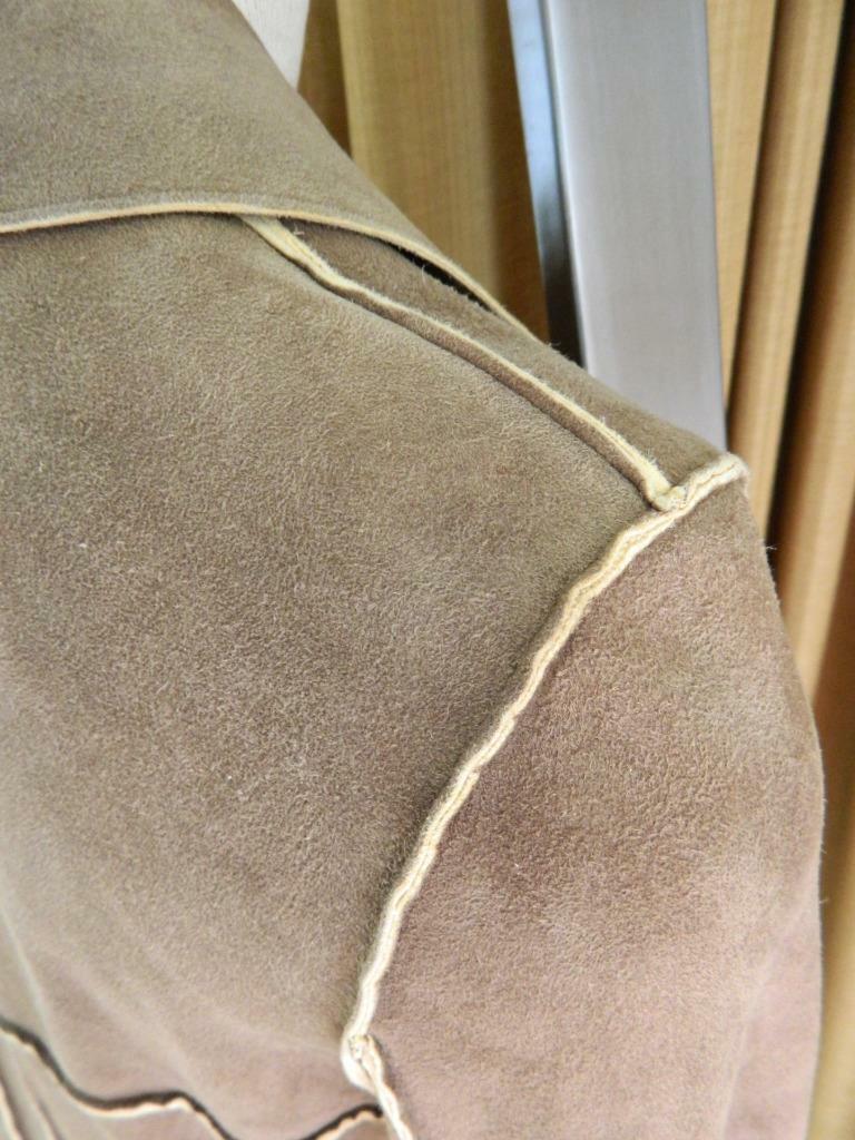 CHANEL Jacket Deer Skin Suede Chanel Horn Button … - image 6