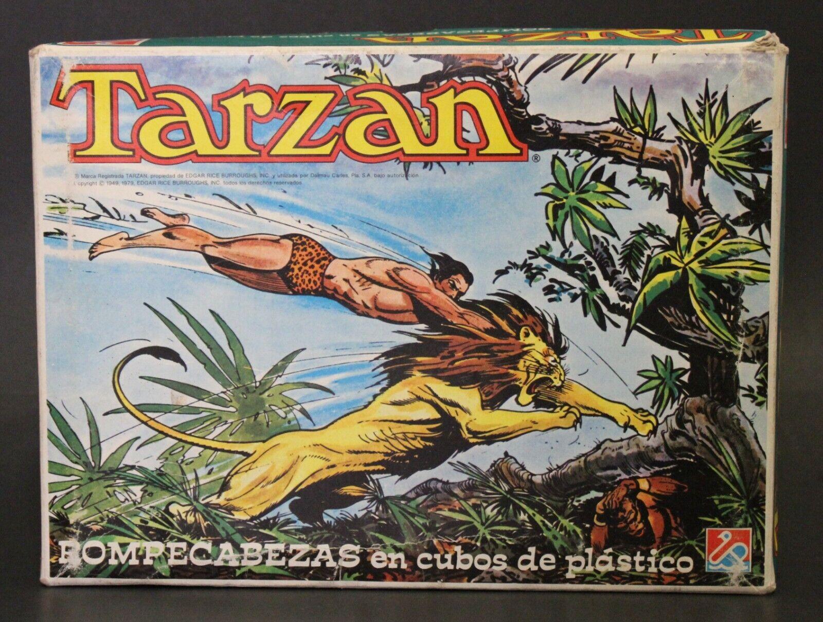 1979 Dalmau TARZAN plastic cubes puzzle - Edgar Rice Burroughs