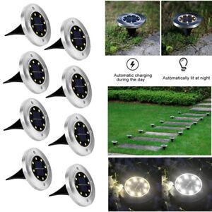 LED Solarlampe Bodeneinbaustrahler Bodenstrahler Bodenleuchte Bodenlampe Außen