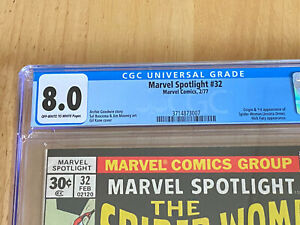 Marvel-Spotlight-32-CGC-8-0-Fresh-Slab-1st-App-of-Spider-Woman-Jessica-Drew