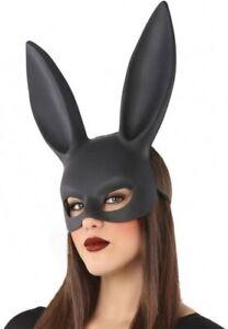 Masque Noir De Lapin Déguisement Animal Femme Halloween Comics Neuf