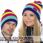 adidas Performance Knit Hat Wool Crochet Beanie Bobble Womens Mens Fleece Linned