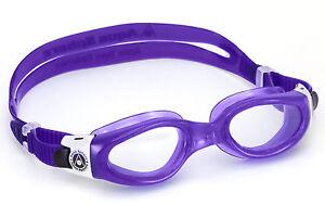 Aqua-Sphere-Dama-Caiman-Mujer-DISCOS-Transparentes-Gafas-De-Nadar-Purpura