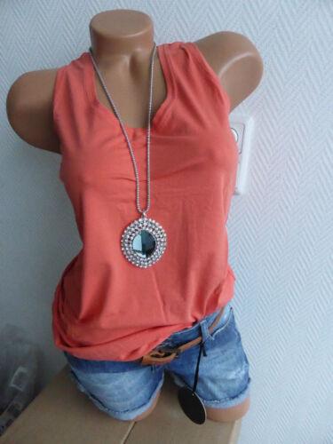 Laura scott top trägertop shirt taille 32-44 corail argile NEUF 503