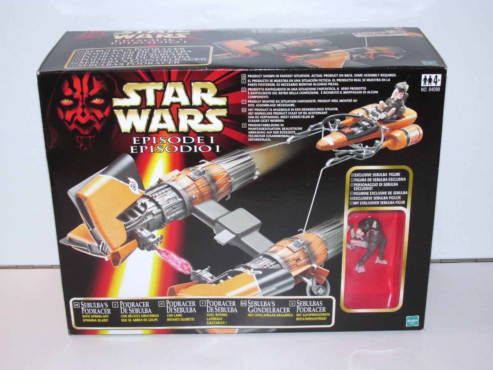 Star wars episode i 1999 sebulba podrenner mib hasbro