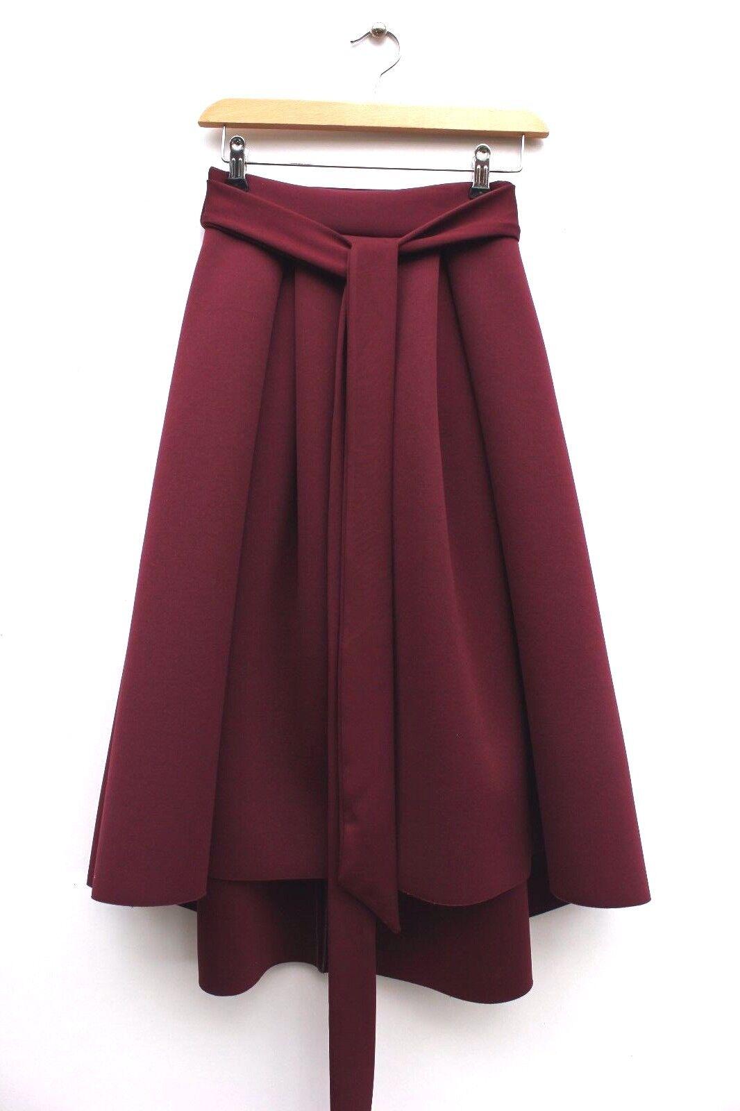 Asos Premium High Low Midi Occasion Scuba Bonded Dress Wedding Prom Skirt 6 34