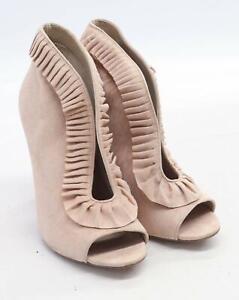Asos-Da-Donna-UK-Taglia-8-rosa-in-pelle-scamosciata-con-tacco-a-stiletto-Volant