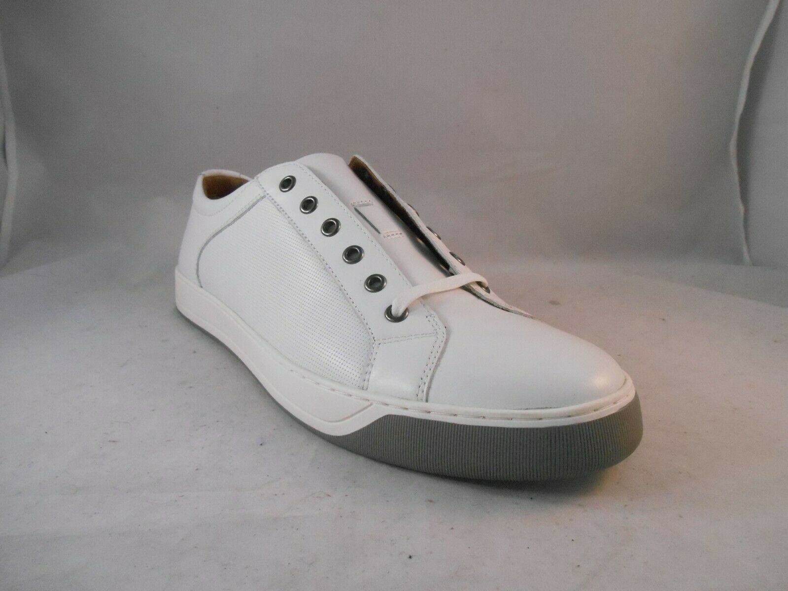 Johnston and Murphy Allister White Leather Lace Up Casual shoes
