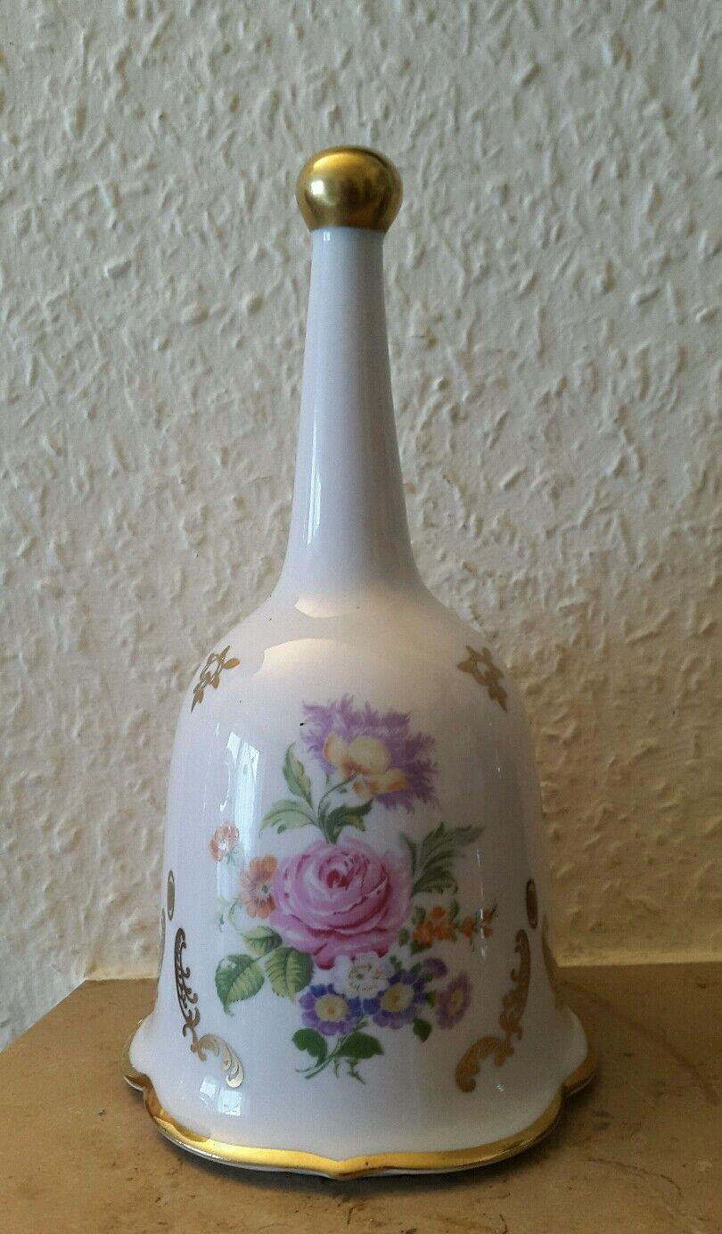 migliore marca CAMPANA di porcellana .18 CM. alta. con con con oro Edizione U. floralem motivo.  sport caldi