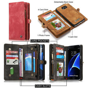 NEW-Retro-Wallet-Luxury-Leather-Zipper-Magnetic-Removable-Cover-Card-Slots-Case