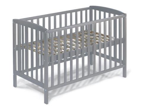 Babybett Beistellbett vollmassiv umbaubar grau skandinavischer Stil 120x60 MIA