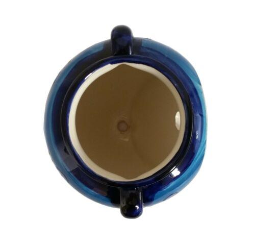Spanish Ceramic Hanging Urn Wall Pot 19 cm X 16 cm Handmade Ceramic Pottery