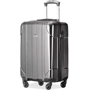 4f3b3fef0 Image is loading Merax-P-E-T-Hard-Luggage-Light-Weight-Spinner-Suitcase-