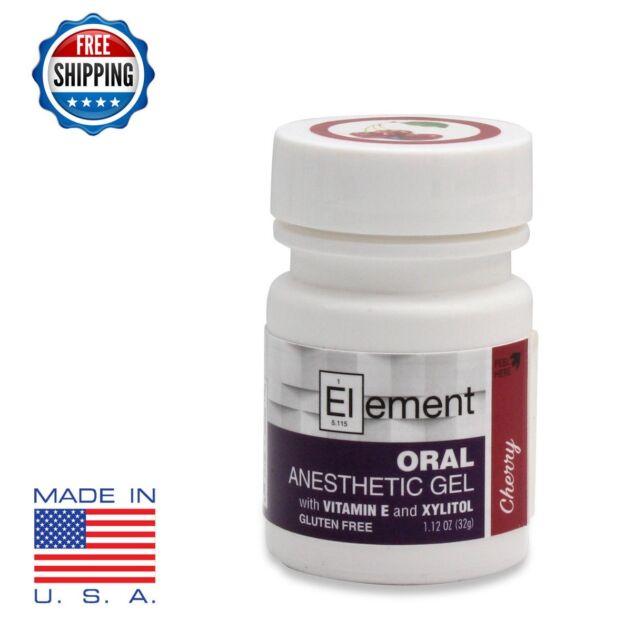 20x Element 20 Benzocaine Topical Anesthetic GEL Cherry Flavor 1oz Jar