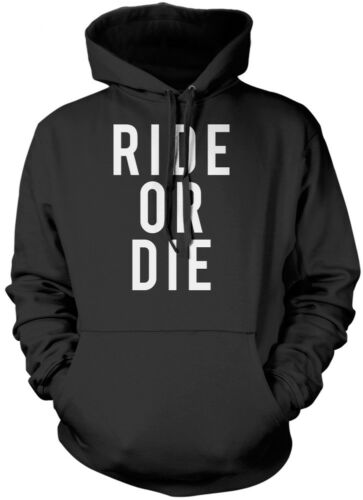 Ride or Die Cyclist cycle biker motorbike tattoo Unisex Hoodie