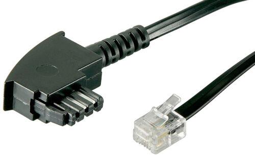 15m Telefon-Kabel TAE F auf RJ11 Stecker 6P4C 4-polig internationale Belegung