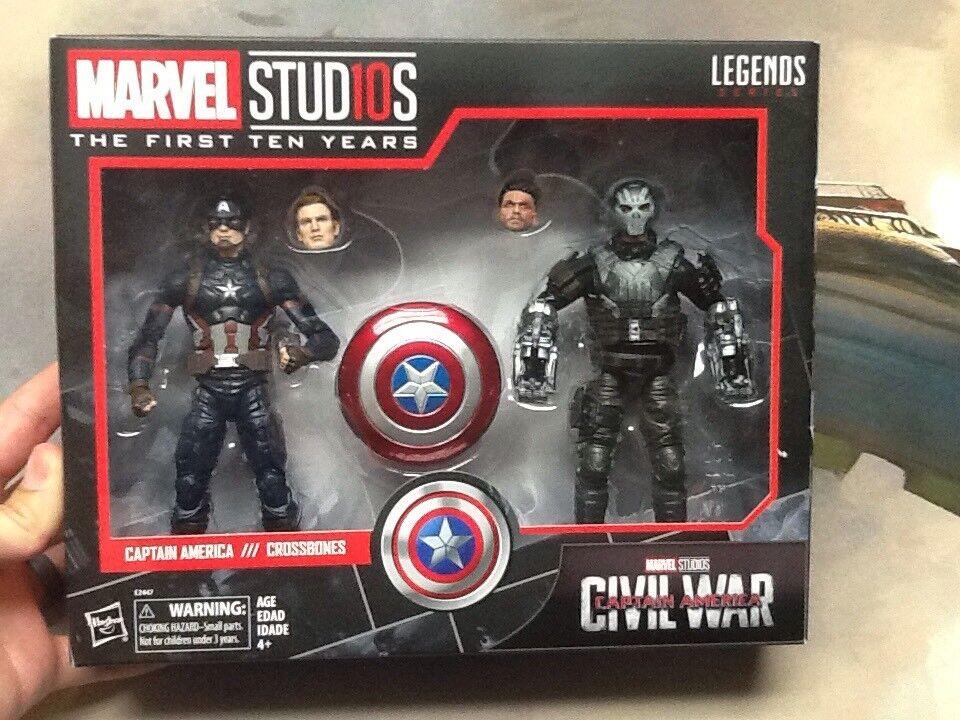 Marvel studios 10 jahre legenden, captain america und gekreuzte knochen neuen brgerkrieg