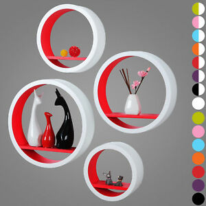 Wall-Shelves-Floating-Wall-Mounted-Shelf-MDF-Set-of-4-Round-Red-URG9231rt