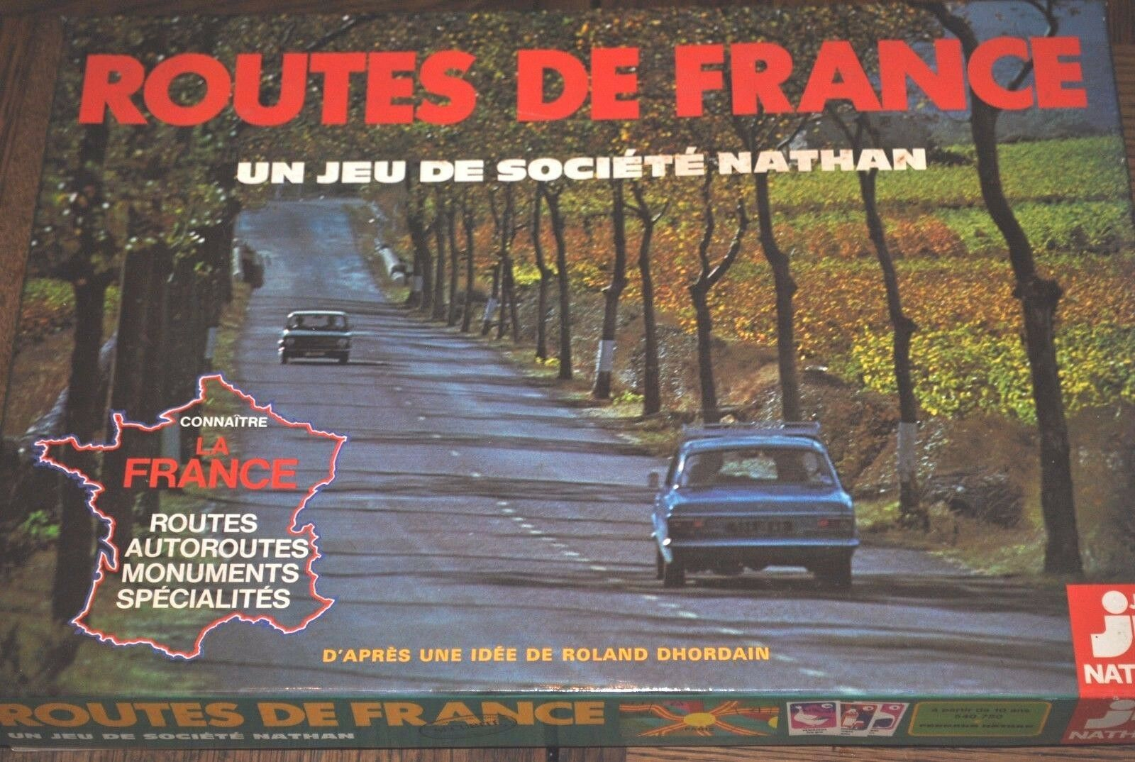 Vintage 1976 routes de France Board Game par Jeux Nathan-COMPLET