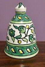 "VINTAGE Israel Jerusalem 1950's Hand painted  Ceramic BELL~4"" Tall"