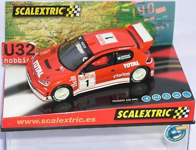 Spielzeug Kinderrennbahnen Loyal Fn Scalextric 6132 Peugeot 206 Wrc #1rallye Monte Carlo 2003 Vivid And Great In Style