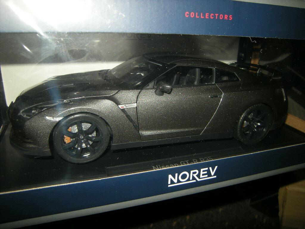1 18 Norev Nissan GTR r-35 2008 DARK gris gris Nº 188053 in neuf dans sa boîte