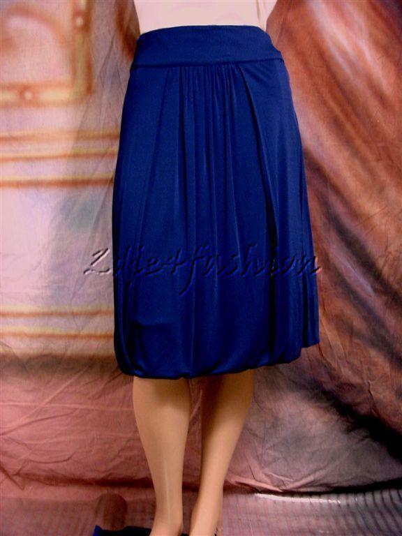 975 ROBERTO CAVALLI Sexig Navy blå Stretchy Jersey Ruched Pleed kjol 42