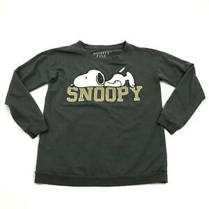 Peanuts Snoopy Sweater Women's Size Extra Small XS Long Sleeve Crewneck Graphic