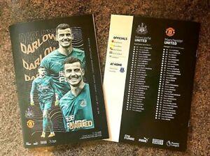 Newcastle United v Manchester United PL MATCHDAY PROGRAMME 17/10/20!