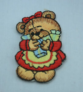 MAMA-MUMMY-TEDDY-BEAR-6cm-Embroidered-Iron-Sew-On-Cloth-Patch-Badge-APPLIQUE