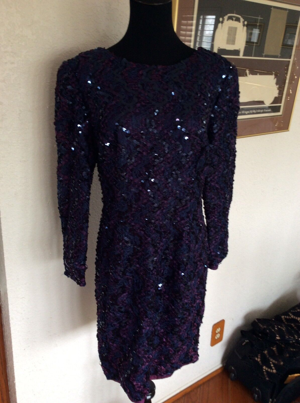 H W Collections Vintage Dress Size 13 14