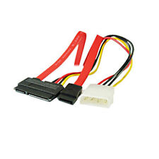 SATA Combo 15 Pin Power and 7 Pin Data Cable 4 Pin Molex to Serial ATA Lead