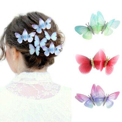 Women Butterfly Hairpin Flower Slide Grip Hair Clip Crystal Barrette Accessories