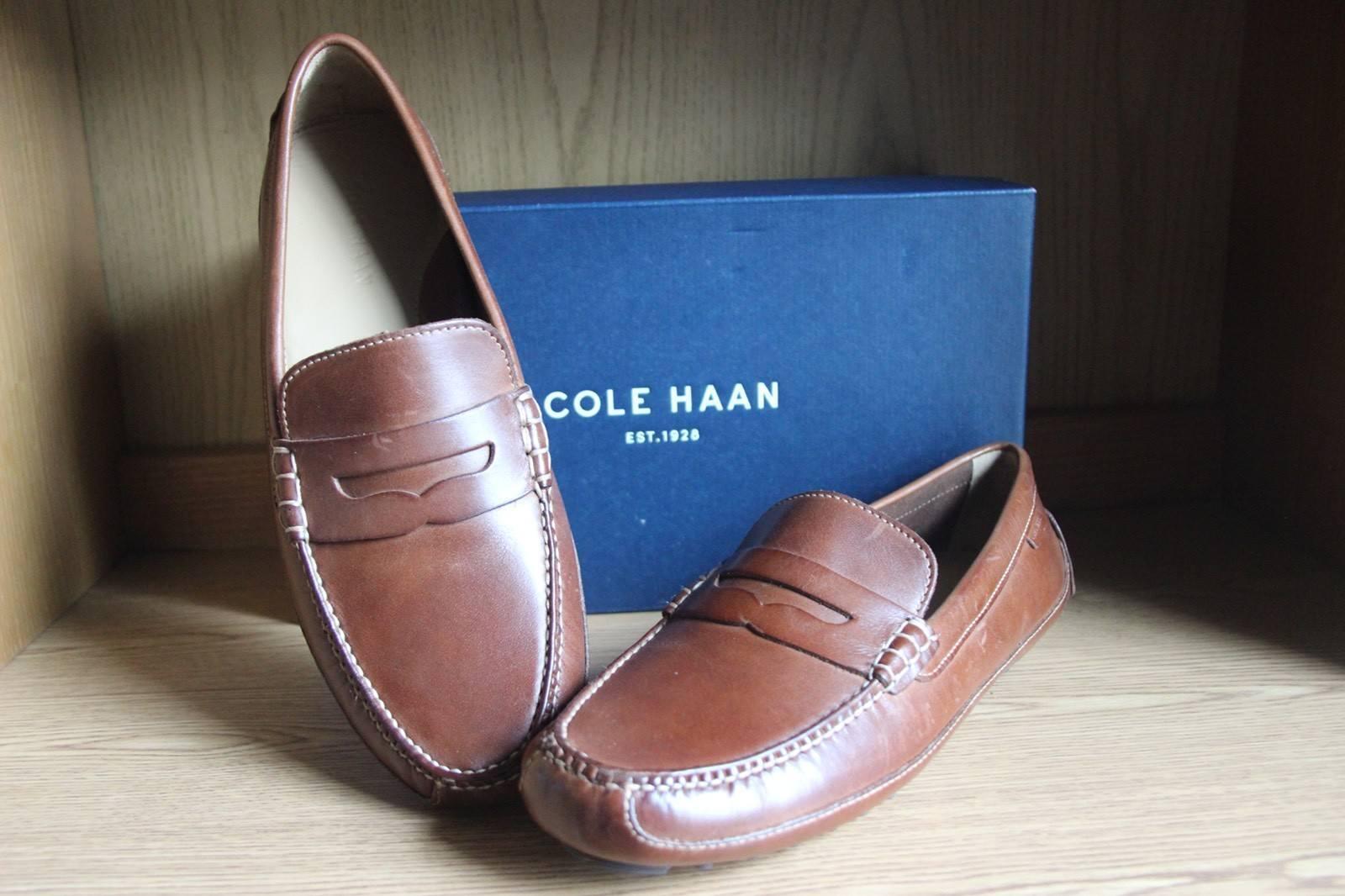 Cole Haan Grant Canoe Penny Loafer Tan Papaya Men Size 11.5  C12134