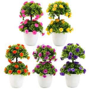 Am-Charm-Potted-Artificial-Flower-Dual-Layer-Bonsai-Stage-Garden-Party-Decor-Co
