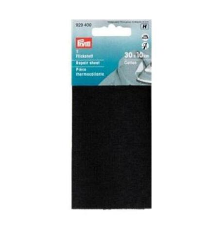 Prym 12 x 45 cm Black Iron-On Cotton Repair Sheet