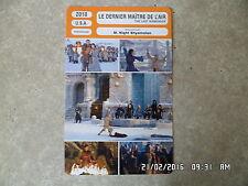 CARTE FICHE CINEMA 2010 LE DERNIER MAITRE DE L'AIR Noah Ringer Dev Patel