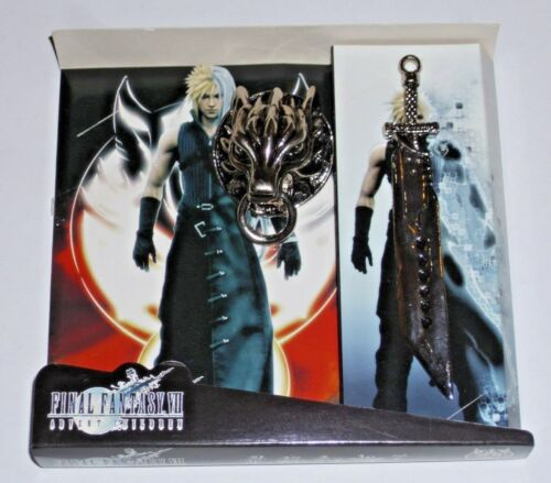 Final Fantasy 7 Advent Children Metal Wolf Brouch and Buster Sword  Keychain NEW
